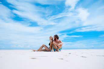 Langzeiturlaub am Strand